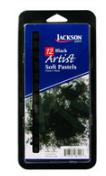 JACKSON ARTIST SOFT PASTEL 12 PIECE BLACK