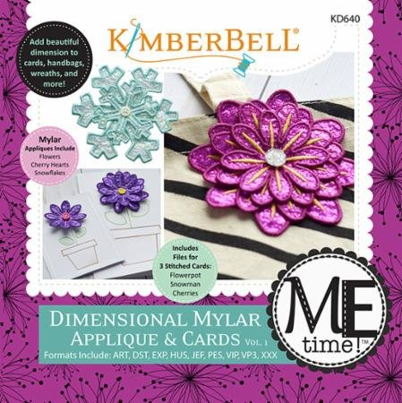 Kimberbell Dimensional Mylar Applique & Cards Volume 1 Machine Emb