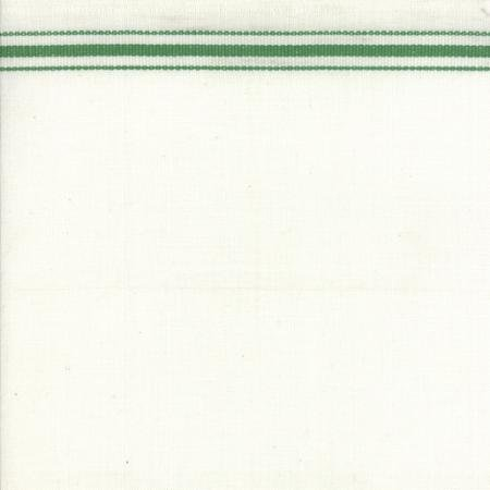 16 Toweling Christmas Stripe White/Green