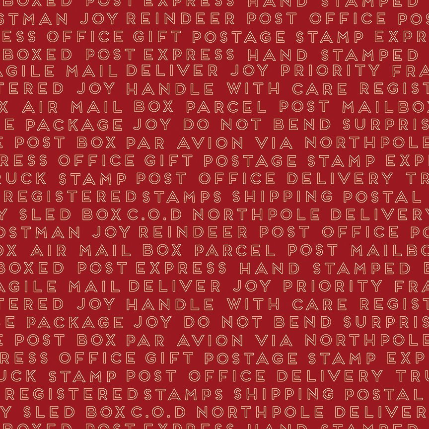 Christmas Delivery C7335 Text Red