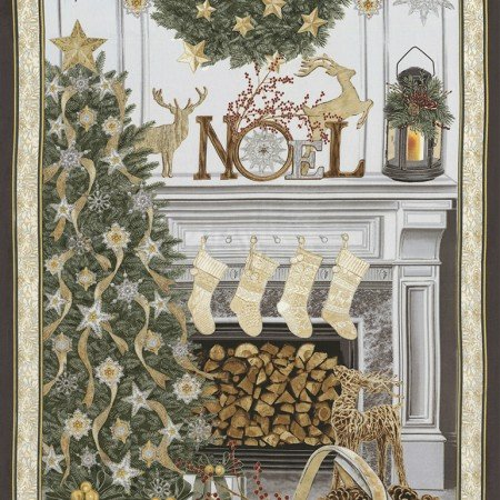 Christmas Mantel Panel CM5165-CREAM