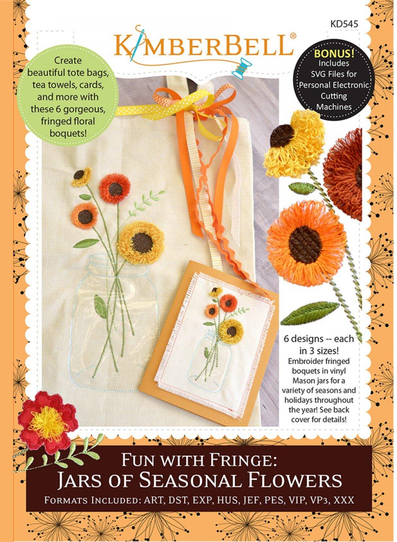 Fun with Fringe: Jars of Seasonal Flowers