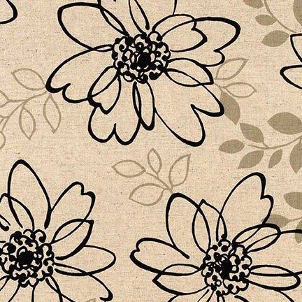 Sevenberry: Canvas Cotton/Flax Prints SB-W8047-3 Black