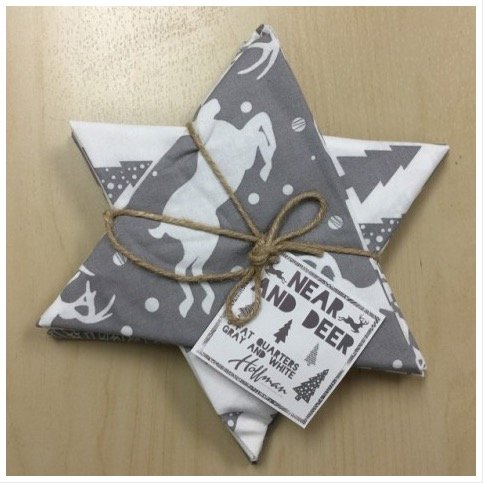 Near and Deer Gray and White Fat Quarter Bundle