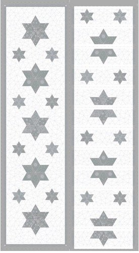 Amazing Stars 4595 134 Panel White and SIlver