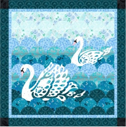 Swan Lace Quilt Kit (using enchanted lake)