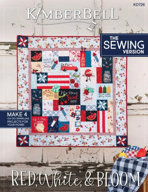 Kimberbell Red White and Bloom SEW Block of the Month Registration