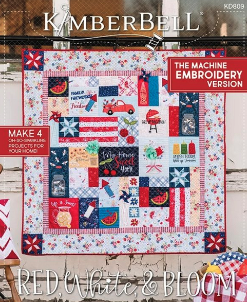 Kimberbell Red White and Bloom EMB Block of the Month Registration
