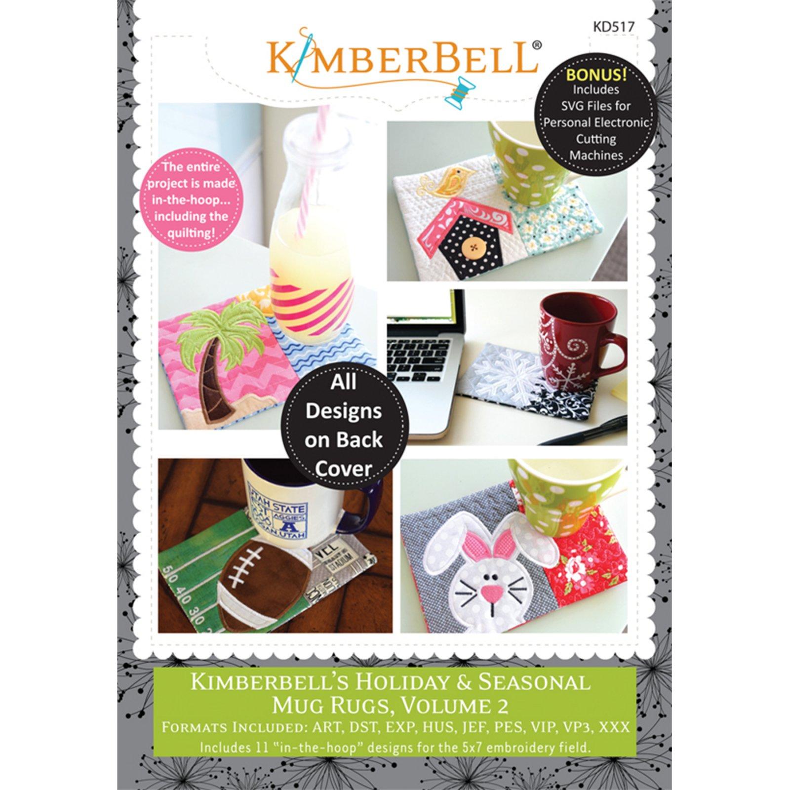 Kimberbell Holiday & Seasonal Mug Rugs Volume 2 Embroidery CD