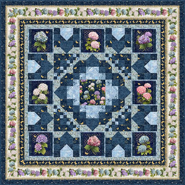 Hydrangea Dreams Quilt Kit 85 x 85