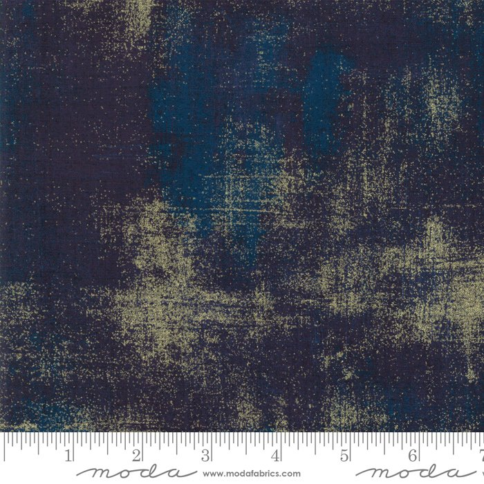 Moda Grunge Metallic Navy
