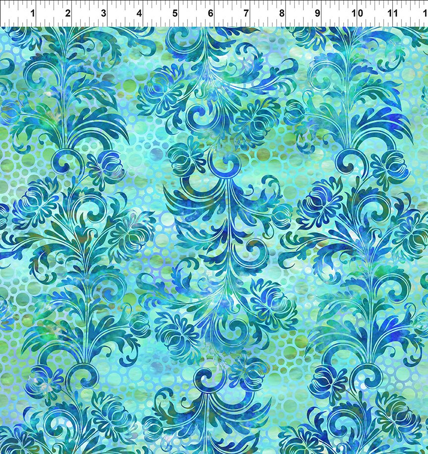 Floragraphix V - Dotted Flourish - Blue