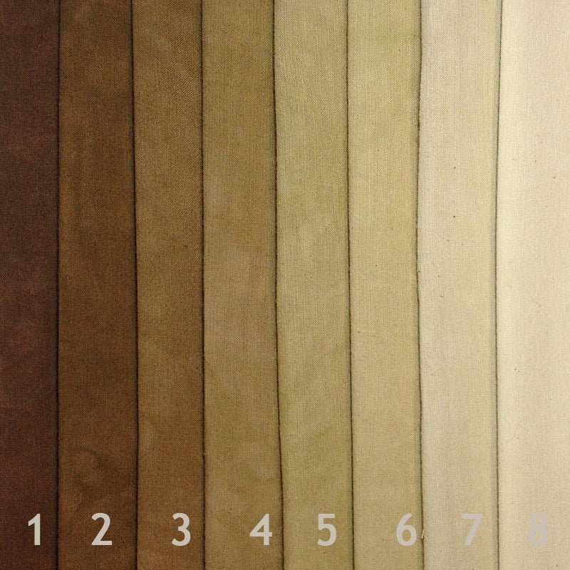 Cherrywood 8 Fat Quarters Chestnut to LIght