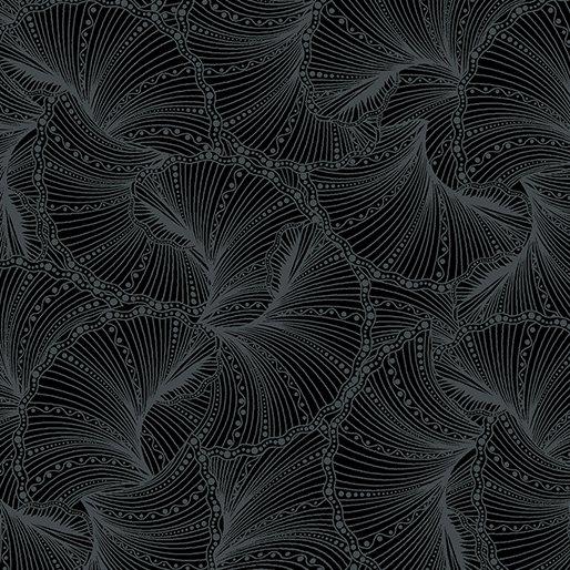 Ann Lauer Peacock Flourish Fanfare Black