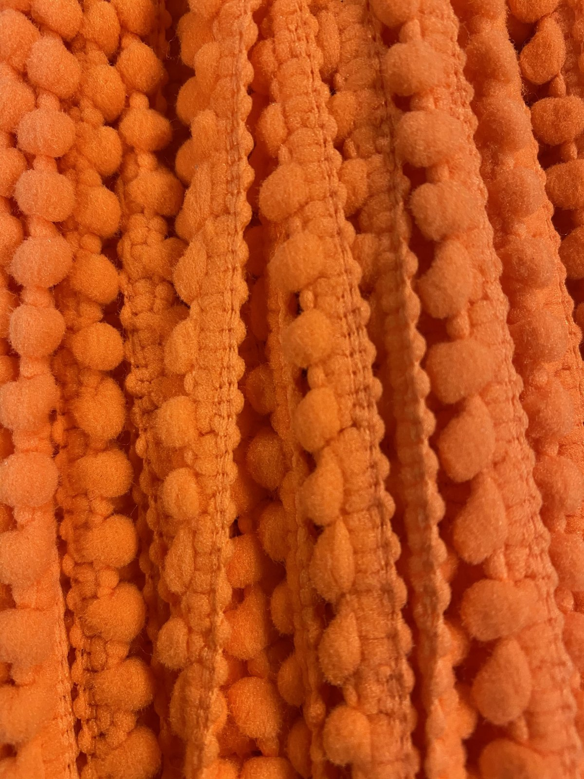 Mini Pom Pom Trim 3/8 - Orange