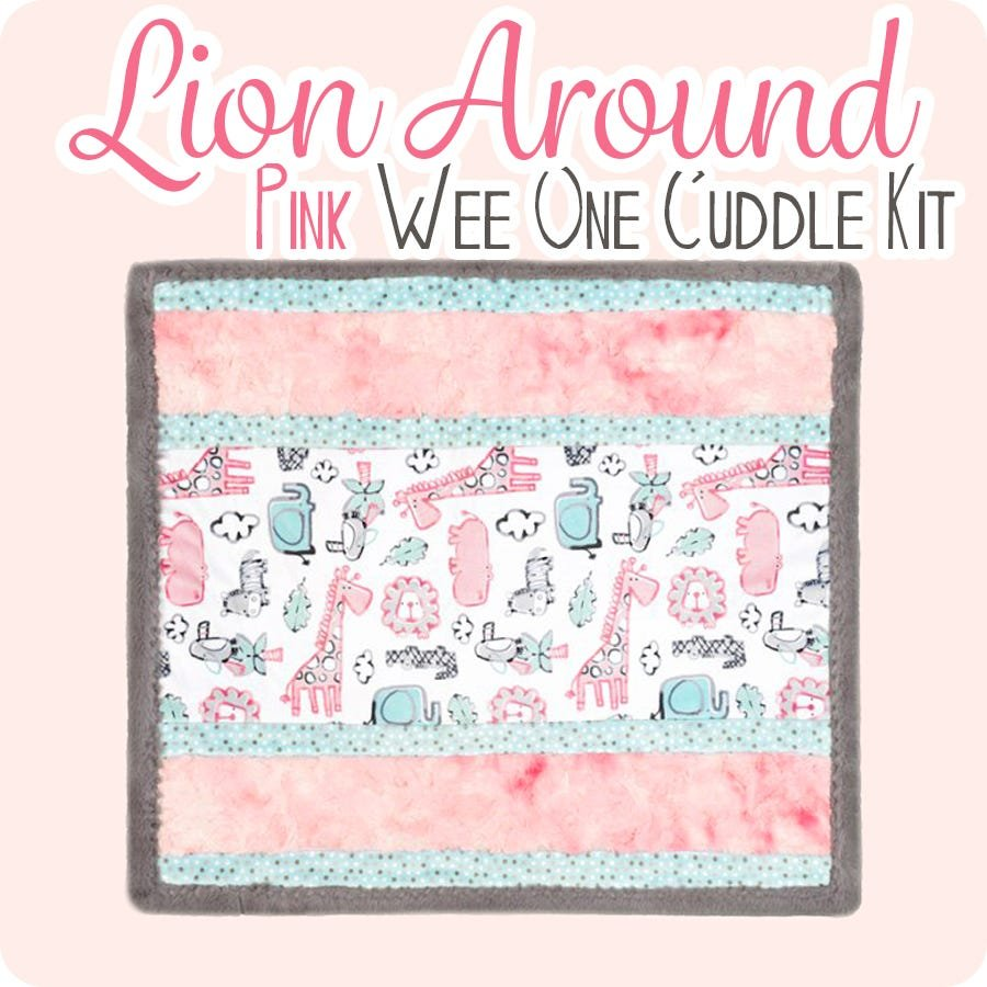 Shannon Cuddle Lion Around Pink Wee Ones Kit 27x27