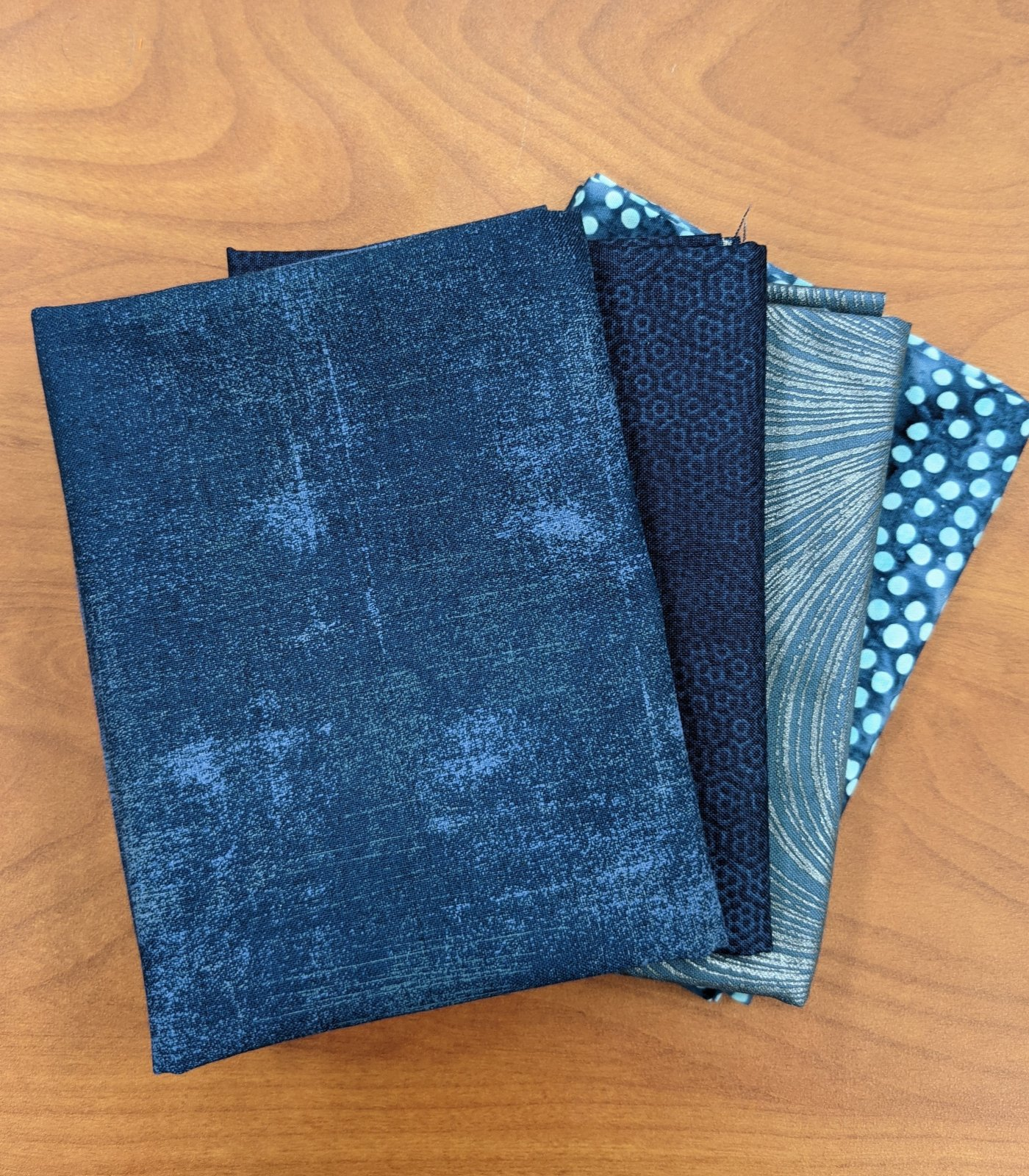 Navy Blue Fat Quarter Stash Builder Bundle - 4 pieces