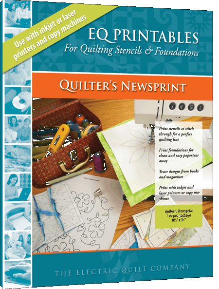EQ Printables Quilters Newsprint