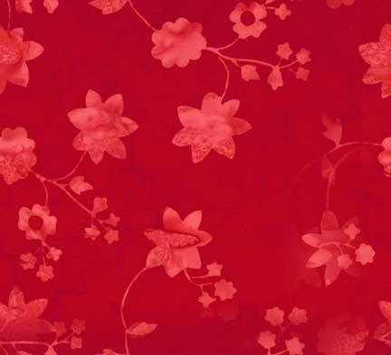 Hoffman Batik Cherry Flower P2952