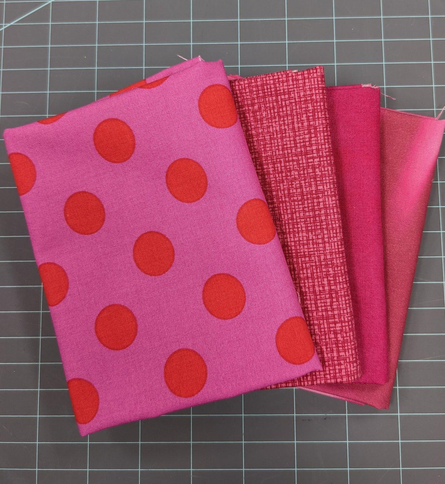 Pink Fat Quarter Stash Builder Bundle - 4 pieces