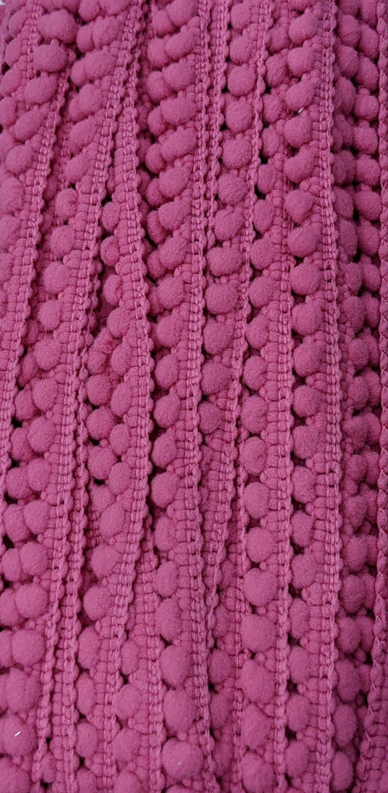Mini Pom Pom Trim 3/8 - Pink