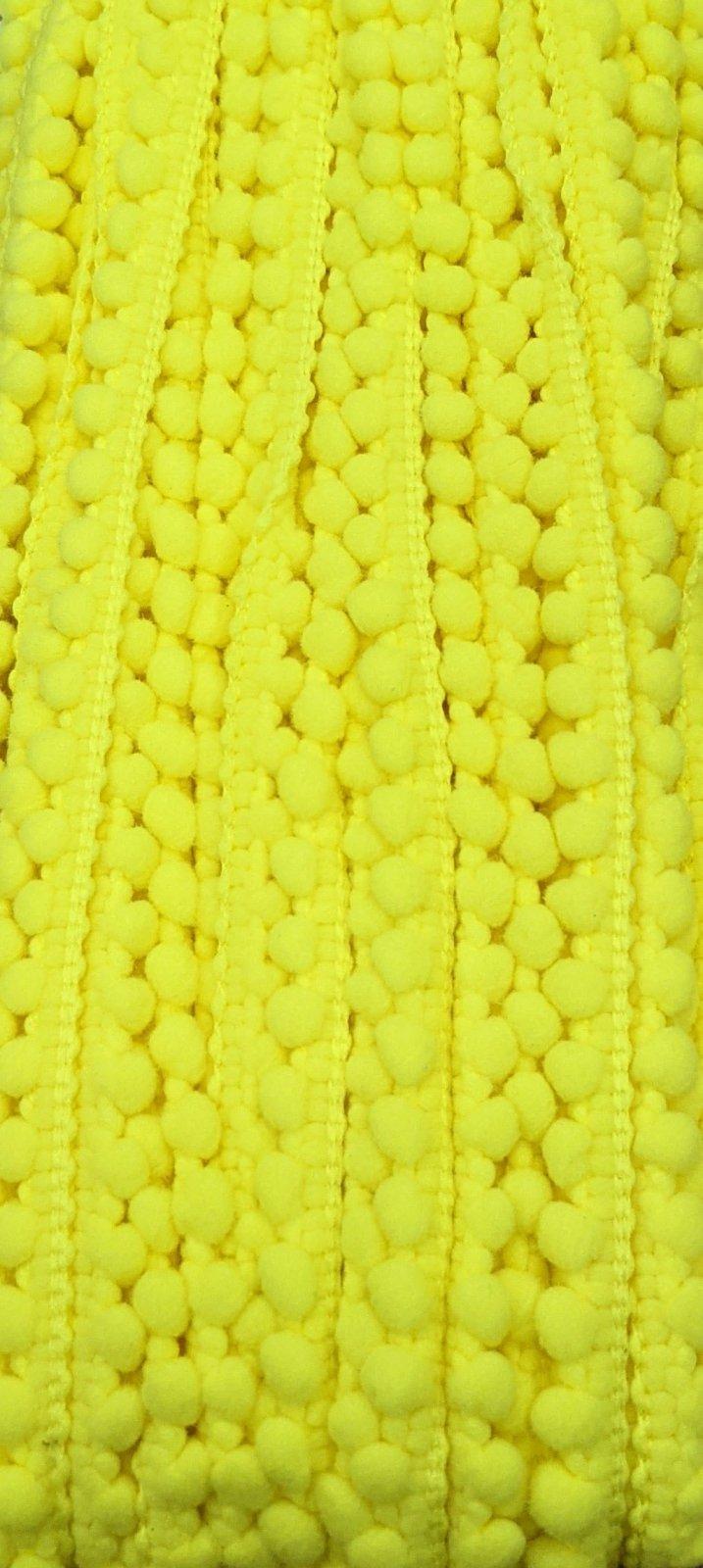 Mini Pom Pom Trim 3/8 - Yellow