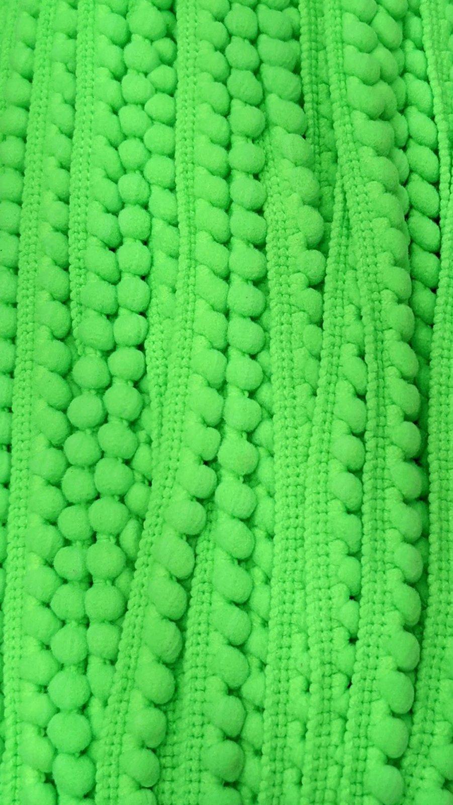 Mini Pom Pom Trim 3/8 - Lime Green