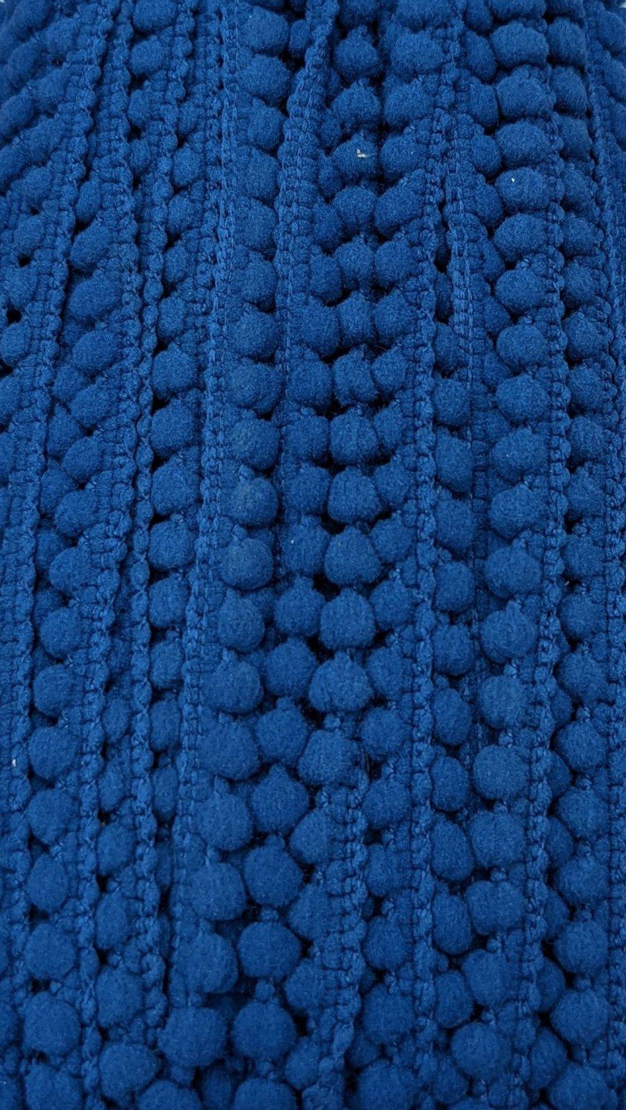 Mini Pom Pom Trim 3/8 -  Denim Blue