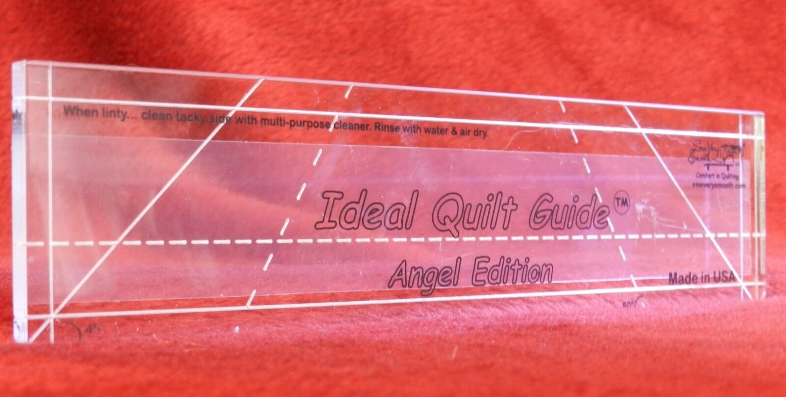 Sew Very Smooth Ideal Quilt Guide Angel Edition Longarm Ruler