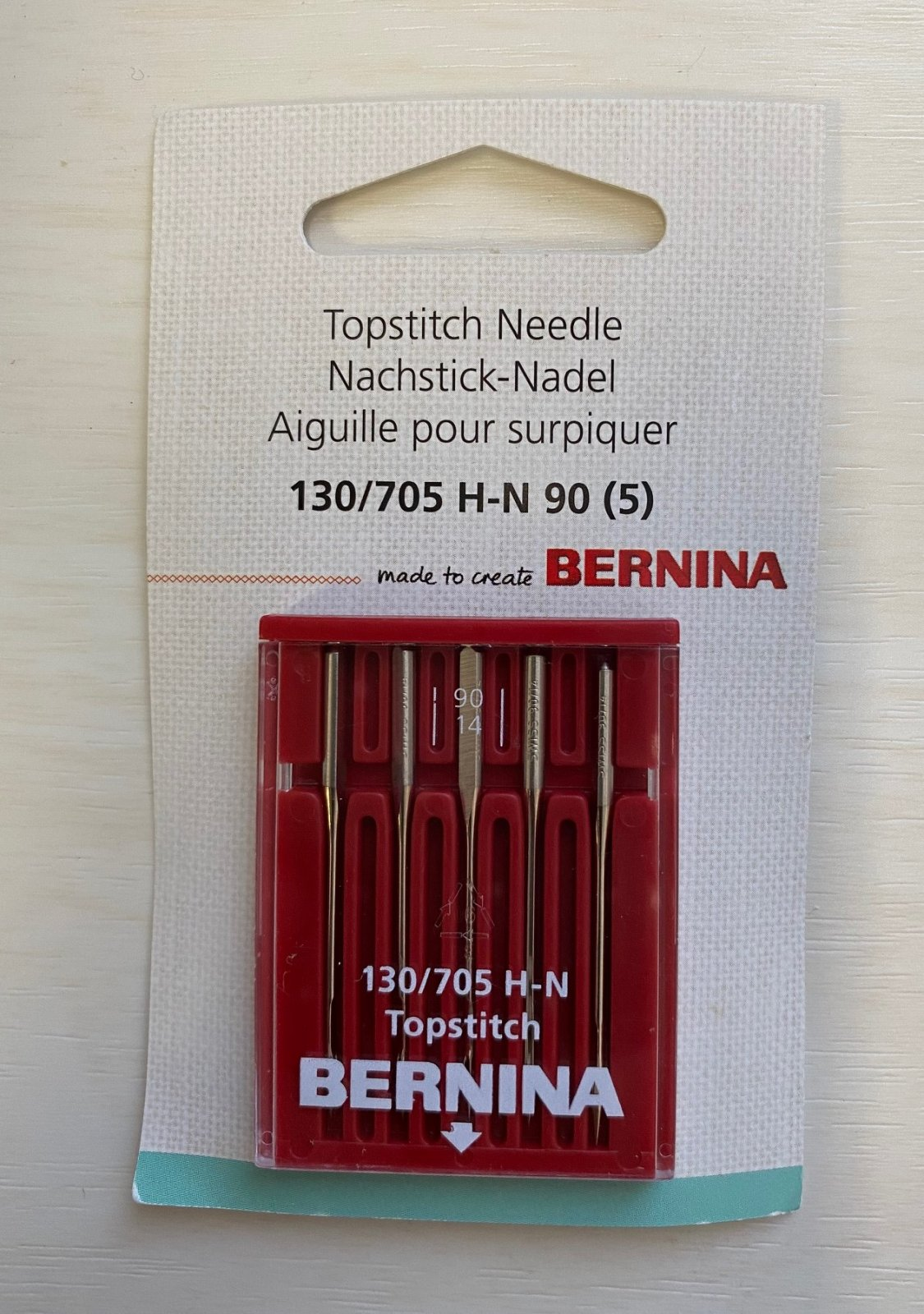 Bernina Top stitch Needle 130/705 H-N 90 (5 pack)