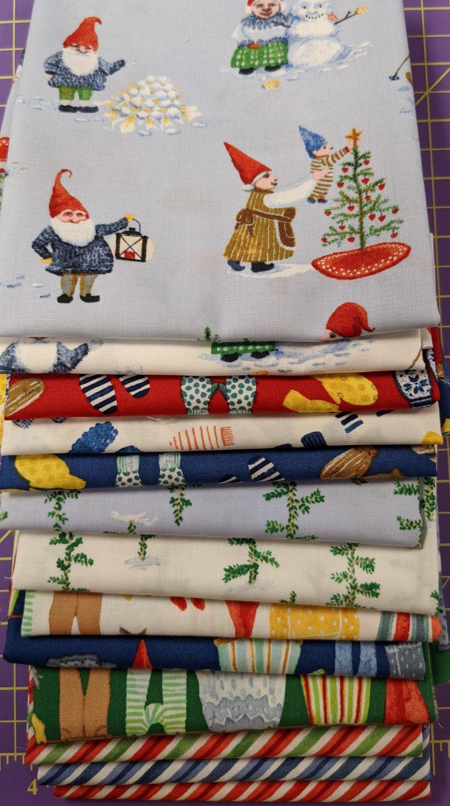Winter Gnomes 1 yard Bundle
