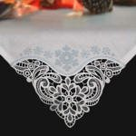 Winter Tablecloth and Napkin Corners