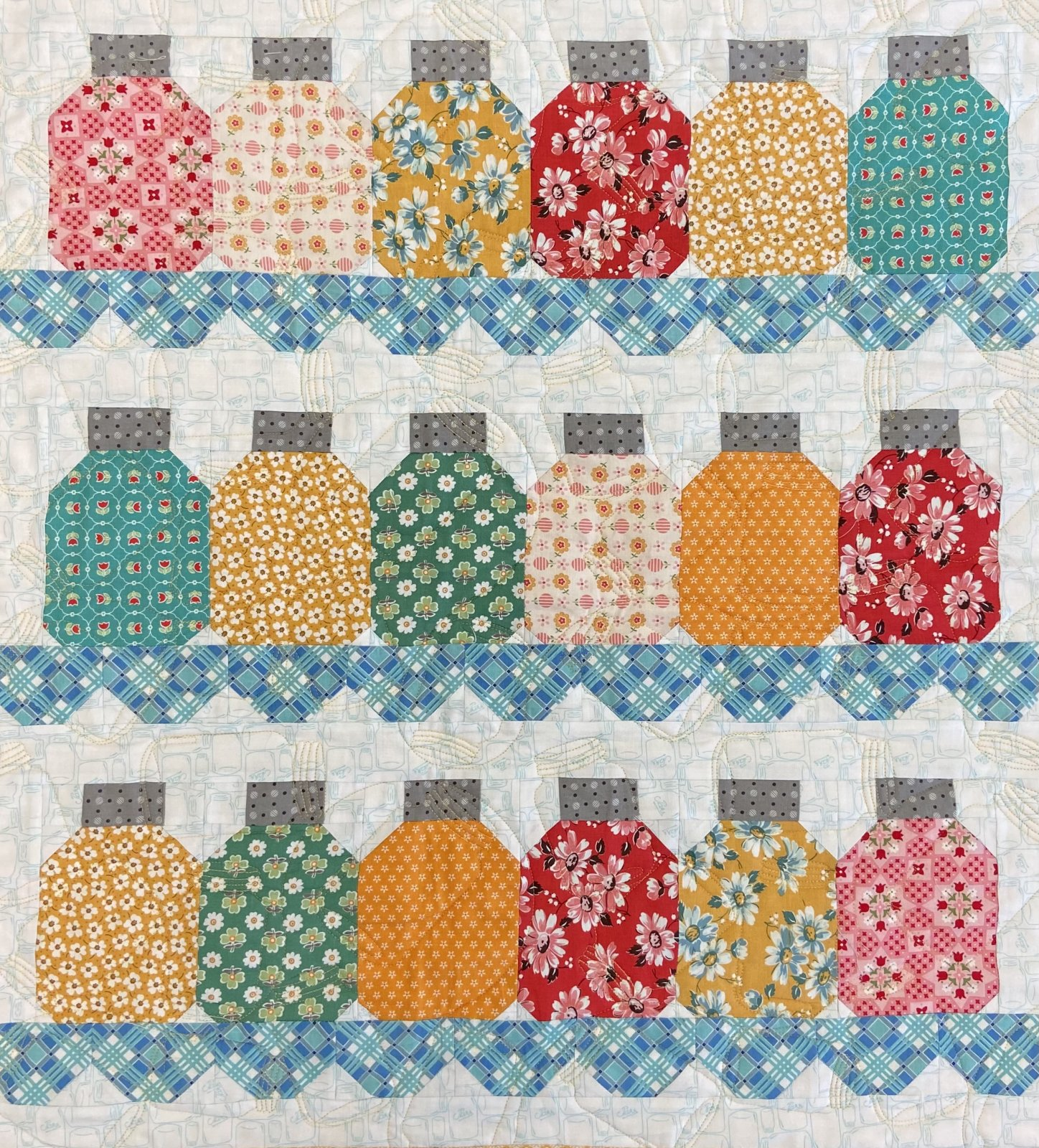 Canning Season Quilt Kit - Yellow Background