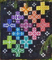 Block of the Month Graphic Jam Quilt Blue