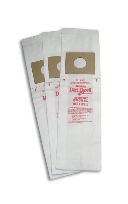 Dirt Devil Paper Bag Type E 3 pk - Genuine