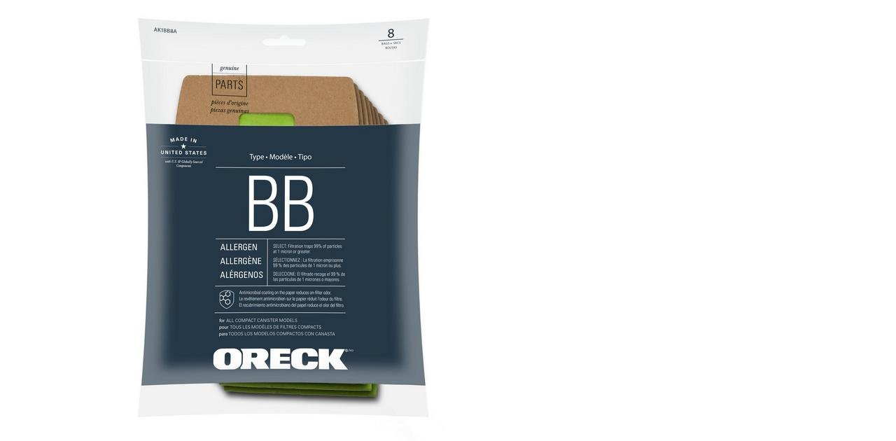 Oreck Buster B Paper Bags   Type BB Canister  - 8 Pack