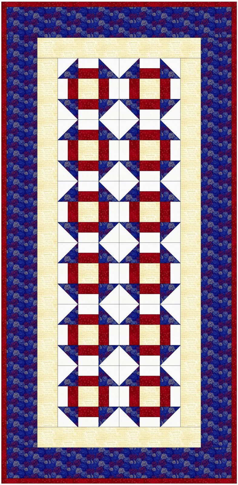 Hero's Wave Table Runner and Placemat Kit