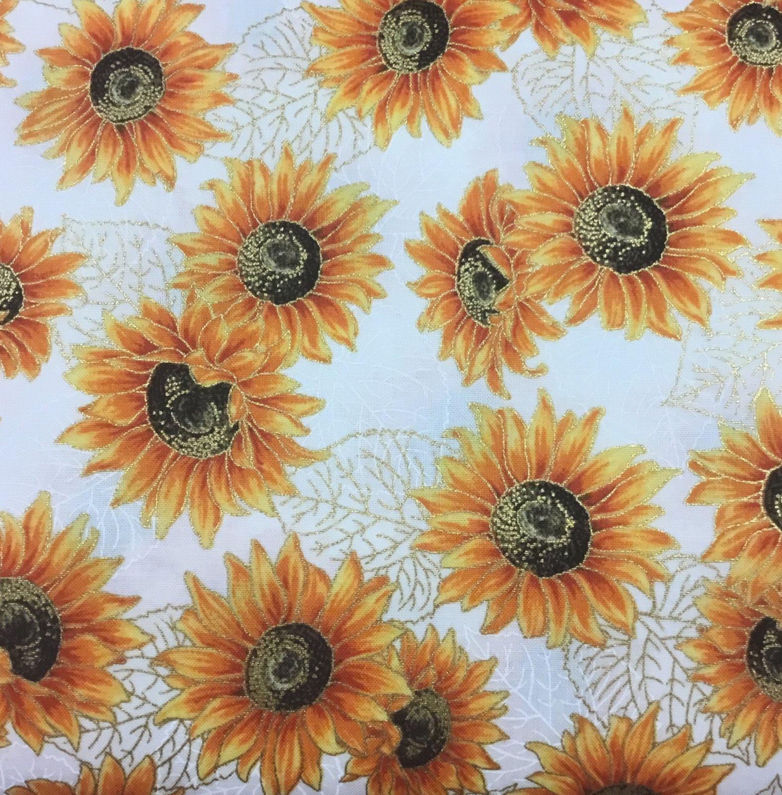 Autumn Beauties Metallic Sunflower