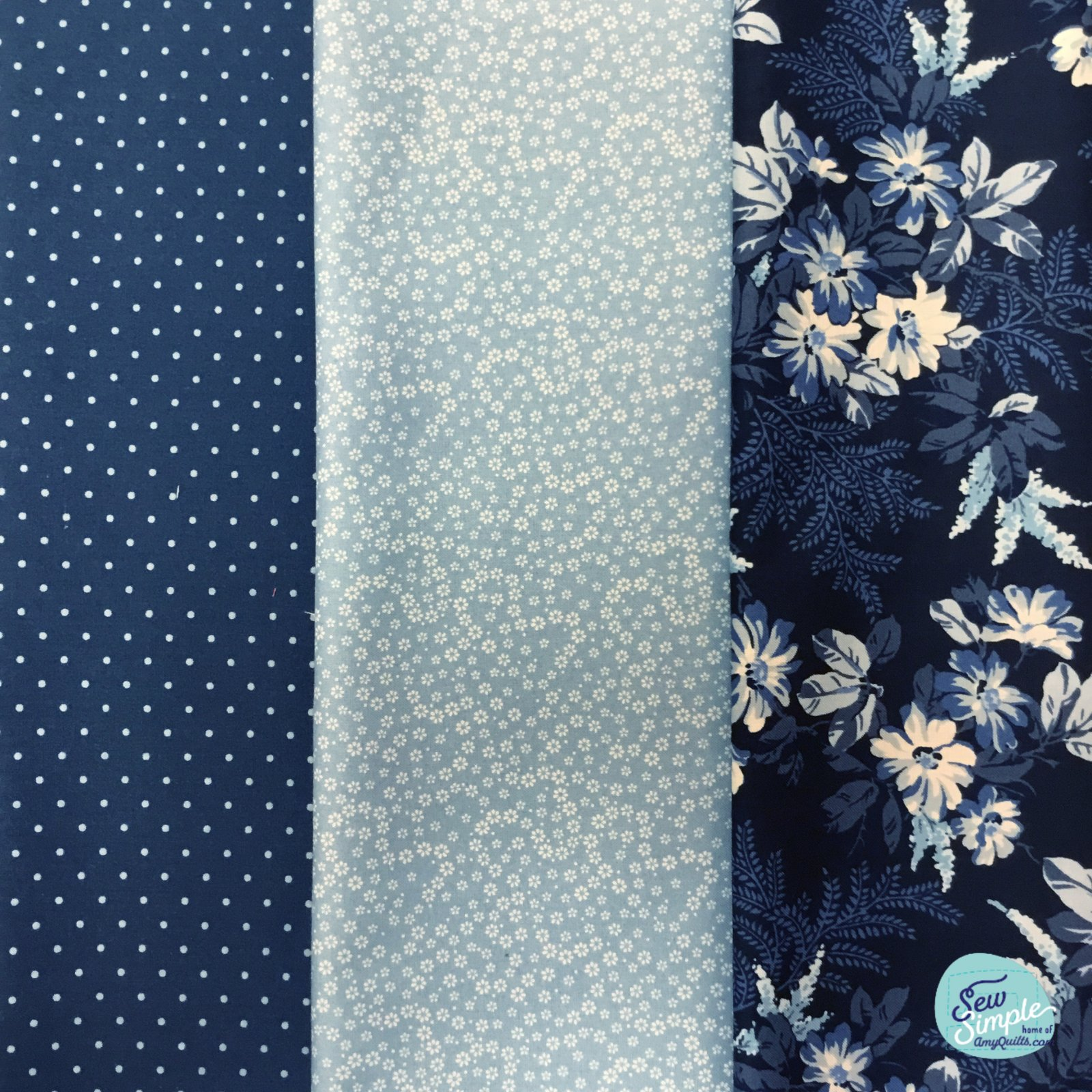 3 Yard Quilt Bundle - Azul Florals 2