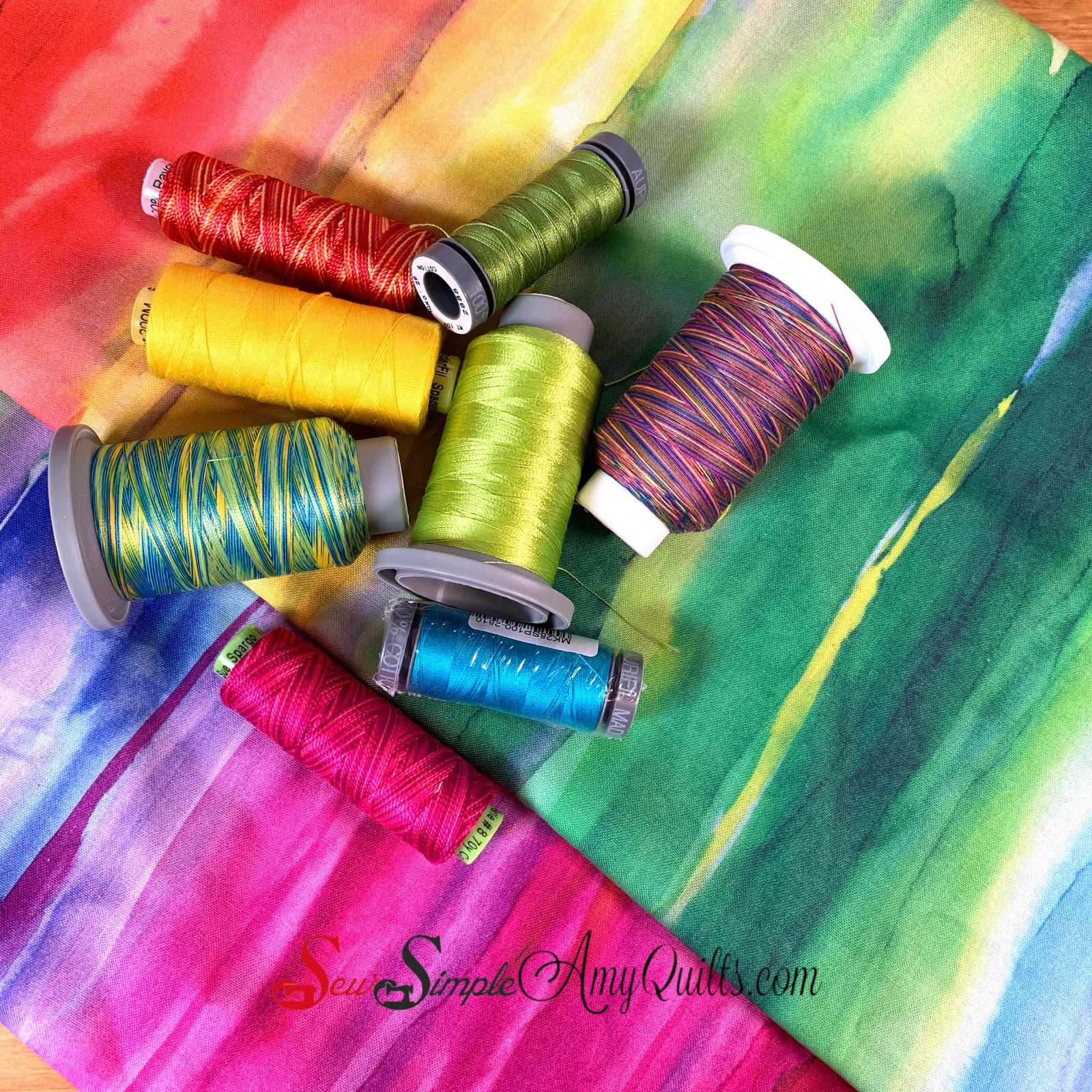 Bright Rainbow Thread Play Kit