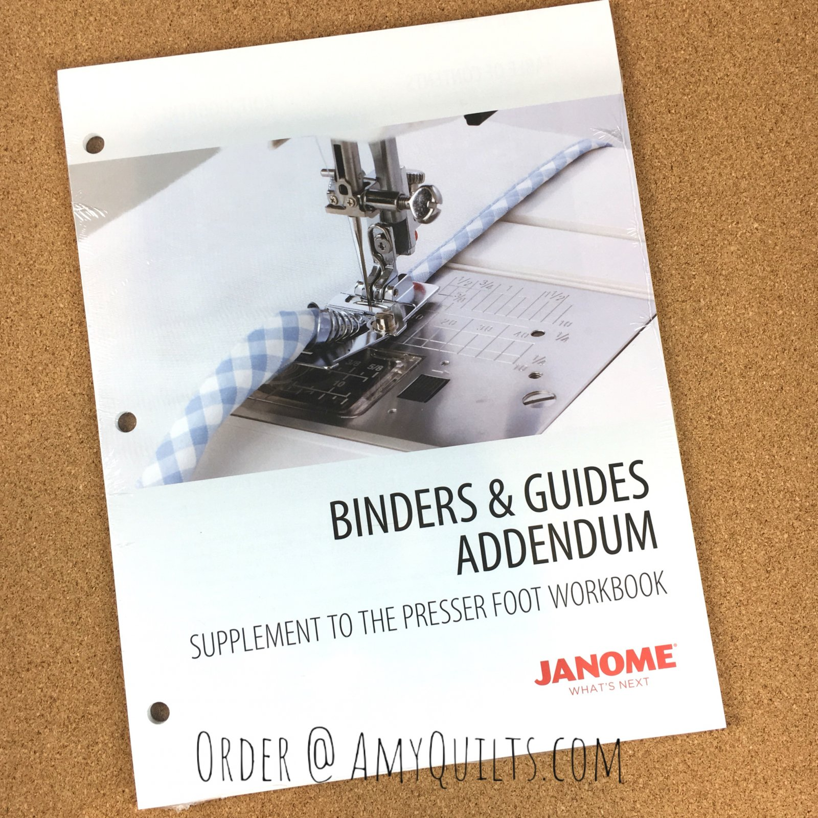 Janome Binders and Guides Addendum