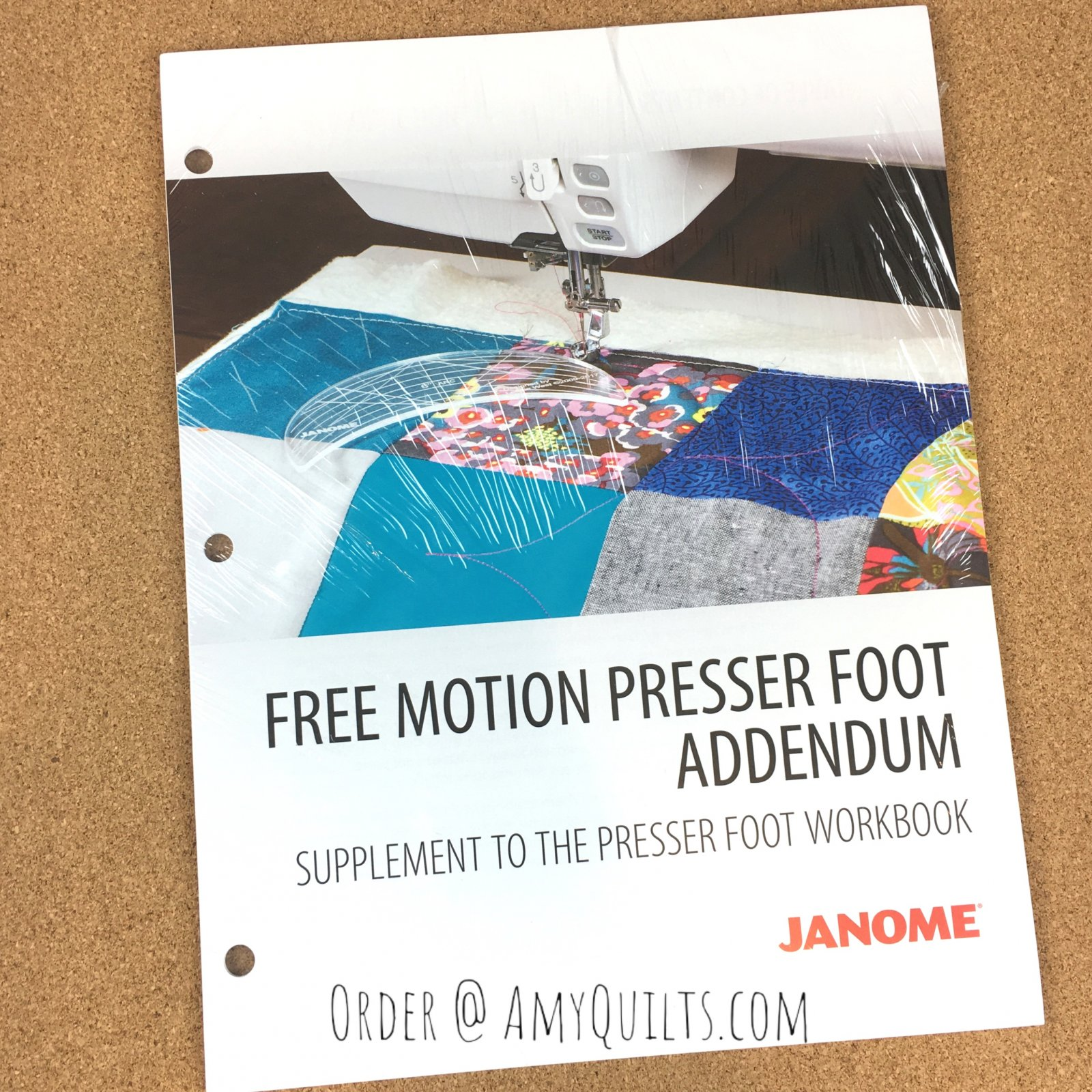 Janome Free Motion Presser Foot Addendum