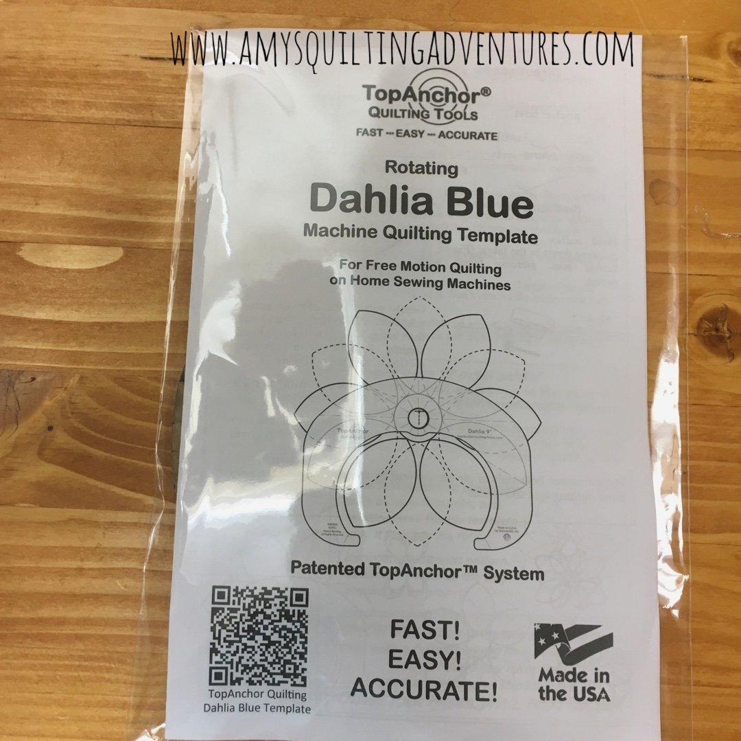 Blue Dahlia Template