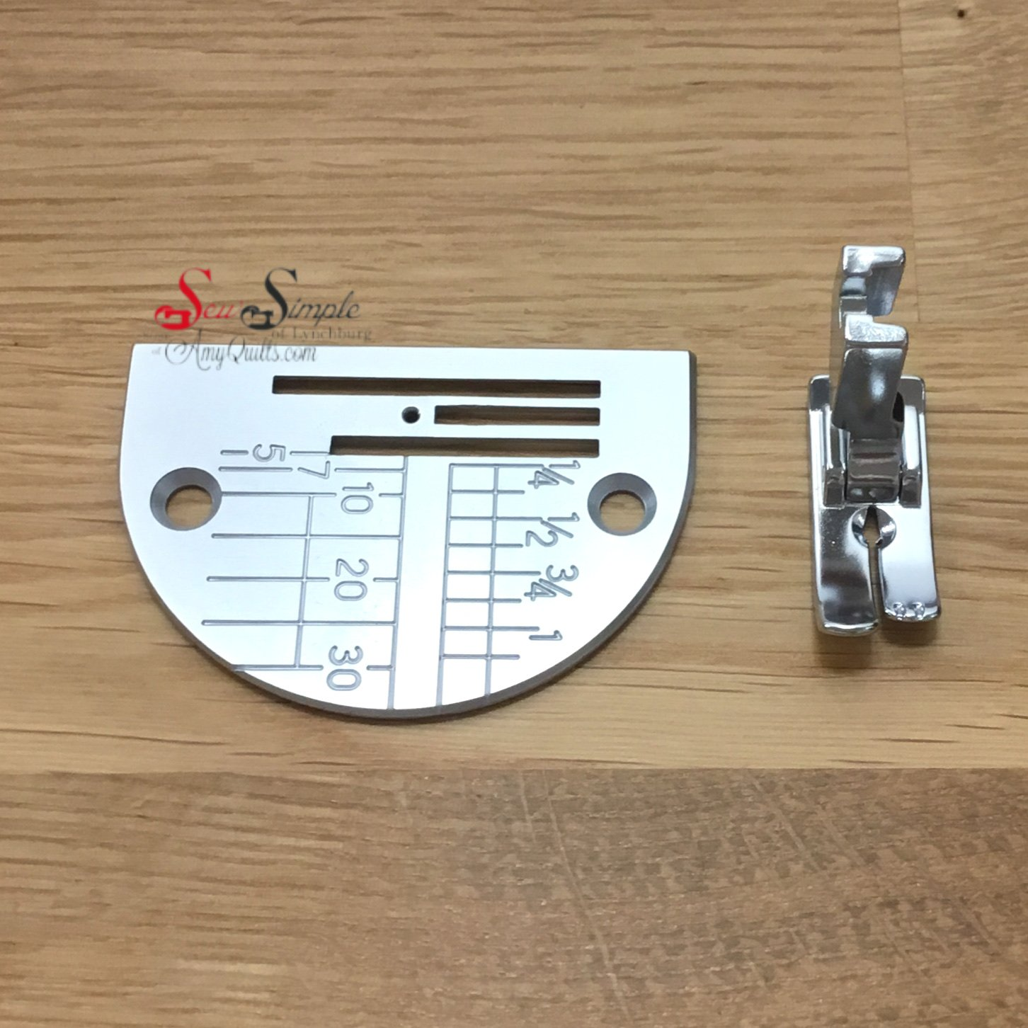 Janome Straight Stitch Foot with Needle Plate for DB Hook Models