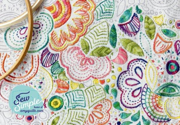 Rainbow Hand Embroidery Kit