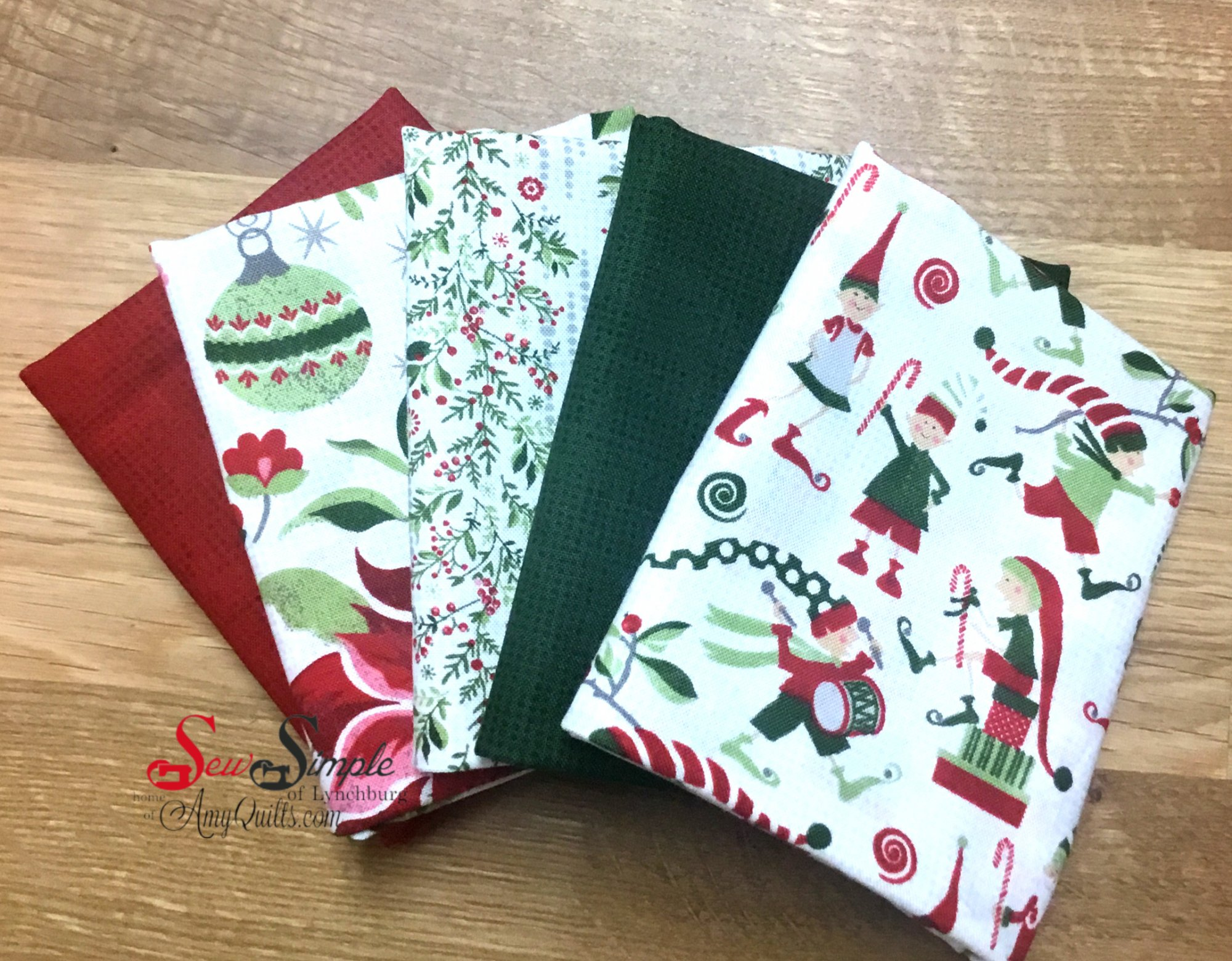 Naughty or Nice Fat Quarter Bundle (5 count)