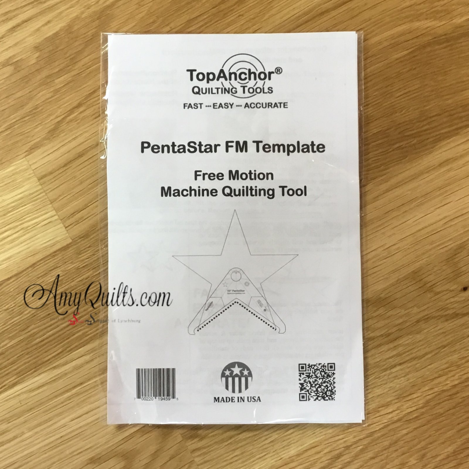 Top Anchor PentaStar 10 inch Template - low shank