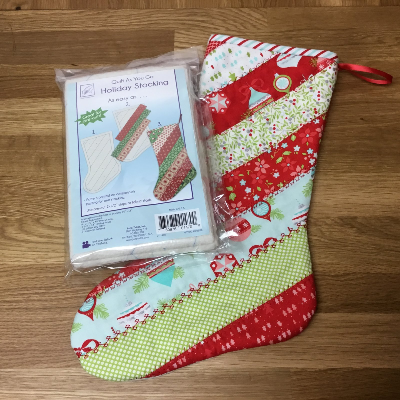 Christmas Stocking Quilt As You Go Kit