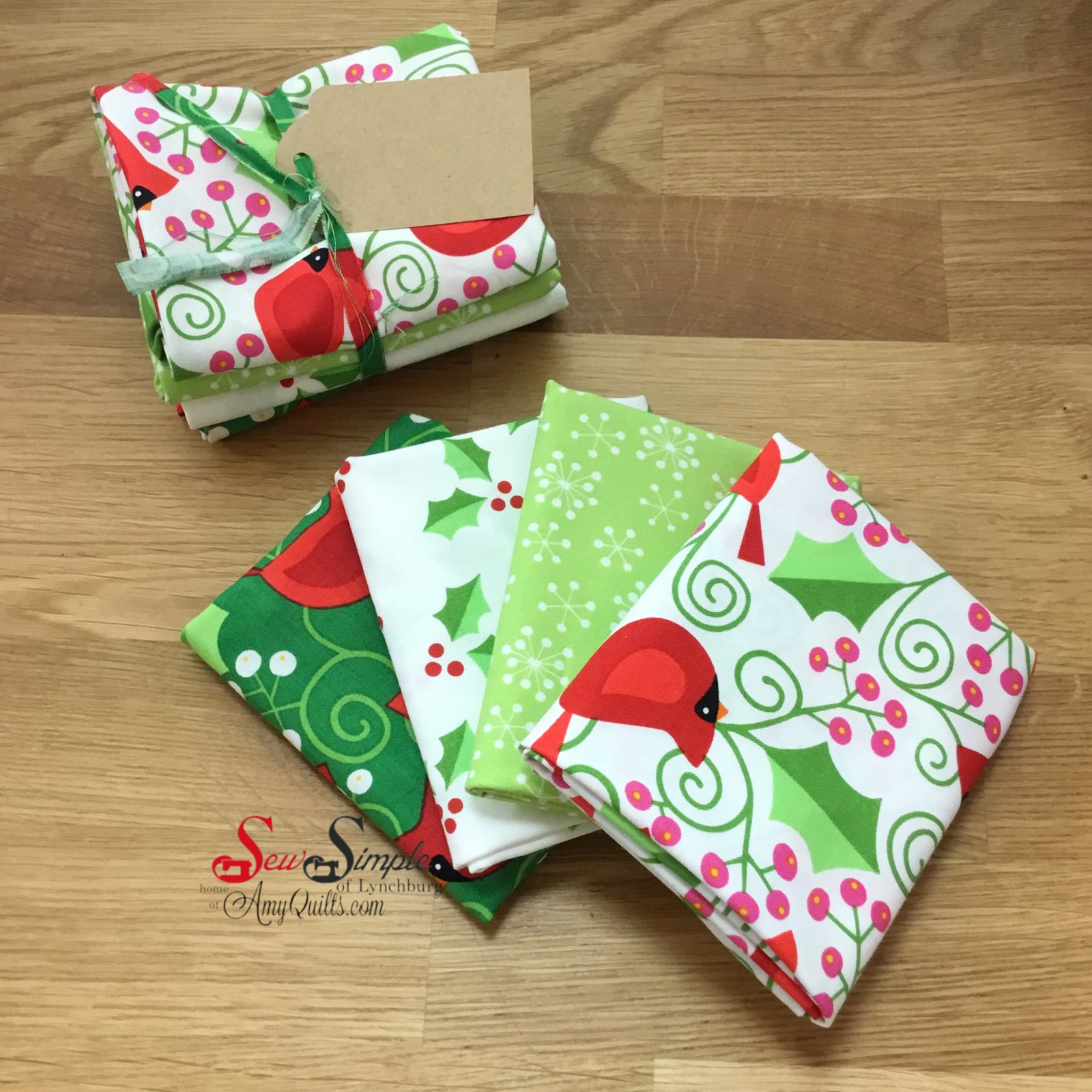Very Merry Fat Quarter Bundle (4 count)