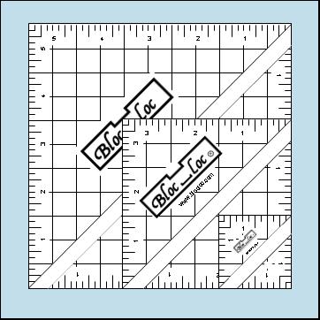 Bloc Loc Half Square Triangle Rulers (1.5, 3.5, 5.5)